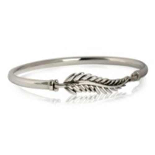 Sterling silver forever fern bangle from Evolve New Zealand.