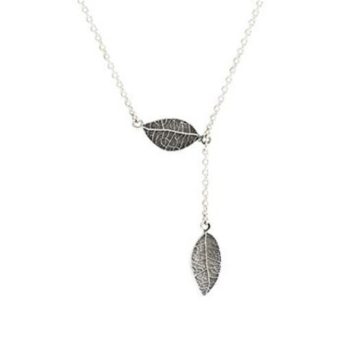 Sterling silver love leaf necklace from Evolve New Zealand.