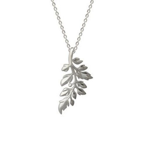 Sterling silver treasured fern necklace from Evolve New Zealand.