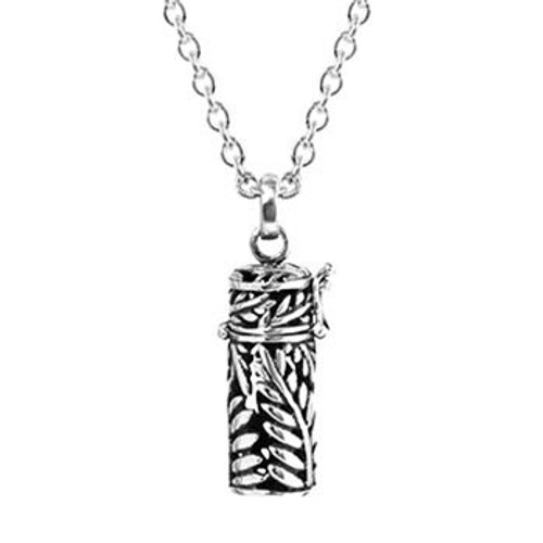 Sterling silver silver fern locket and chain necklace from Evolve New Zealand.