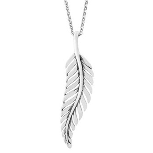 Sterling silver forever fern statement necklace from Evolve New Zealand.