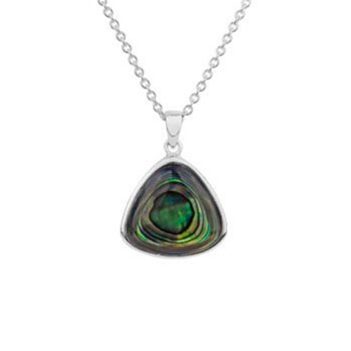 Sterling silver and paua statement paua necklace from Evolve New Zealand.