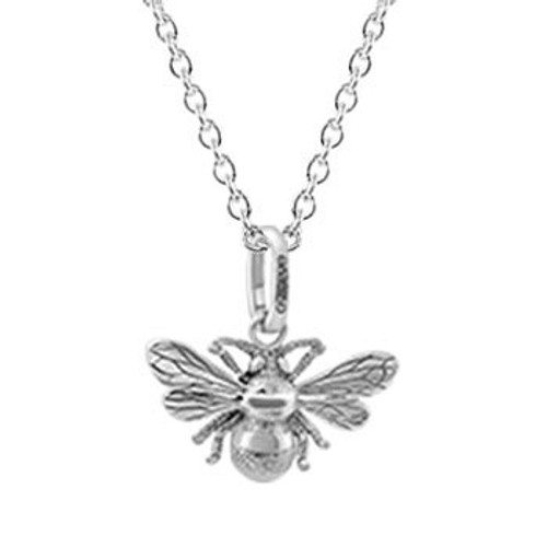 Sterling silver bumble bee necklace from Evolve New Zealand.