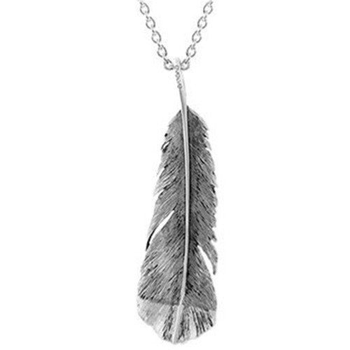 Sterling silver statement huia necklace from Evolve New Zealand.