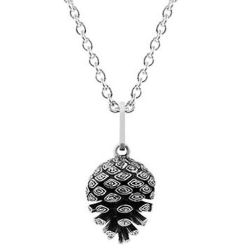 Sterling silver pinecone necklace from Evolve New Zealand.