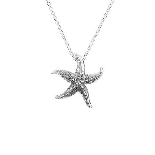 Stirling silver coastal starfish necklace from Evolve New Zealand.