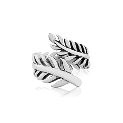Sterling silver forever fern ring from Evolve New Zealand.
