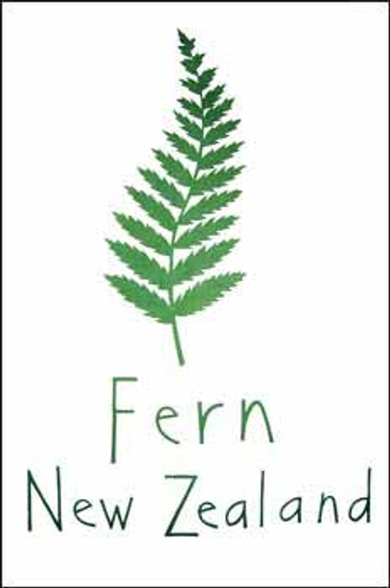 100% cotton tea towel featuring a fern design from Moa Revival New Zealand.