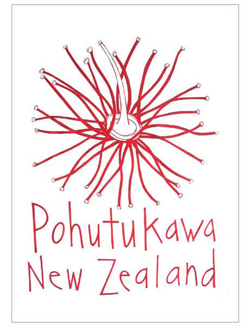 100% cotton tea towel featuring a  design from Moa Revival New Zealand.