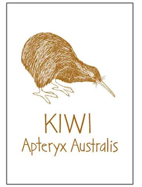 NZ made 100% cotton tea towel with an iconic kiwi design from Moa Revival.