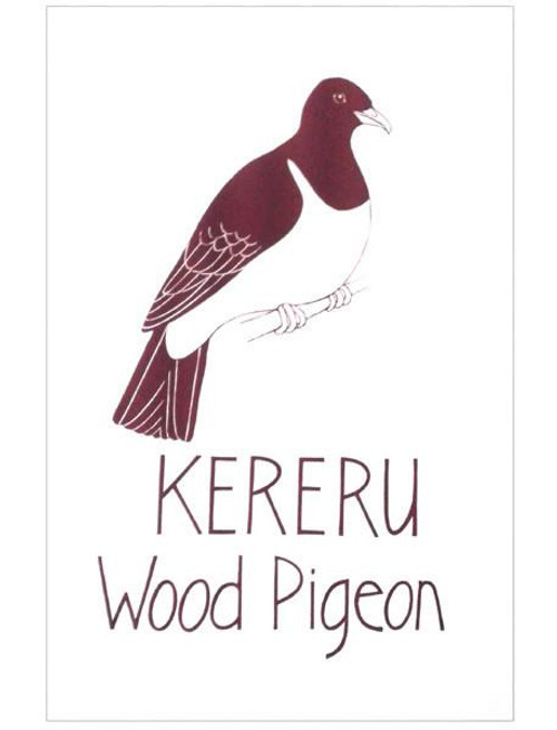 NZ made 100% cotton tea towel with an iconic kereru design from Moa Revival.