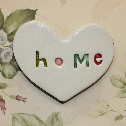 Ceramic stamped home heart from The Monster Company. Made in NZ.