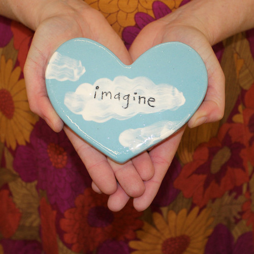 Ceramic imagine  heart from The Monster Company. Made in NZ.