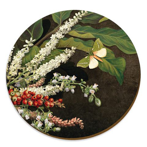 Nikau berries cork backed placemat by NZ artist Tanya Wolfkamp.