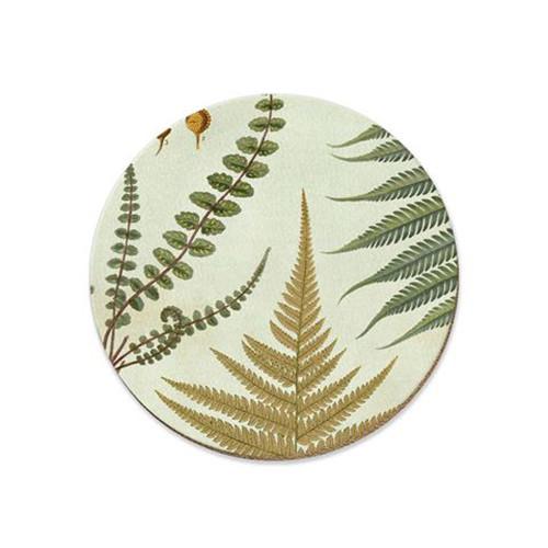 NZ ferns cork backed coaster by NZ artist Tanya Wolfkamp.