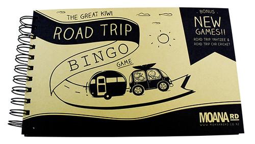 Road trip bingo activities book from Moana RD.