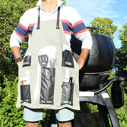 BBQ apron from Moana Rd.