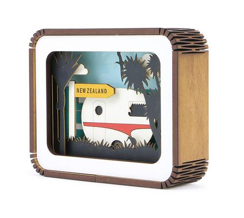 caravan, story box, art block, rimu frame, made in NZ, Ian Blackwell, Kiwiana,