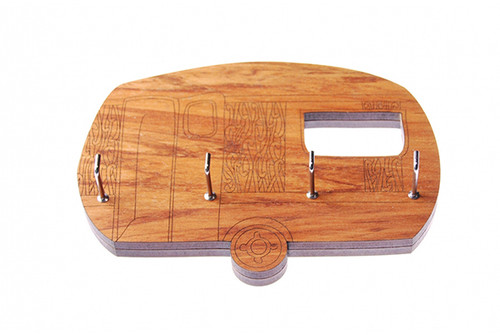 key-wiana key holder, key holder, ian blackwell, made in NZ, rimu, caravan.
