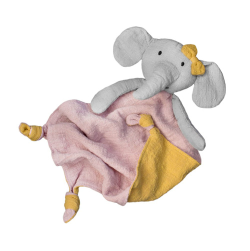 Effie the elephant comforter, Lily and George.
