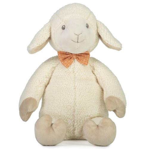 Luca the lamb soft toy, Lily and George.