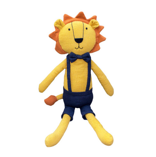 Logan the lion soft toy, Lily and George.