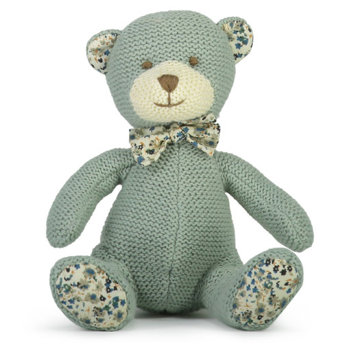 Barney knit bear soft toy, Lily and George.