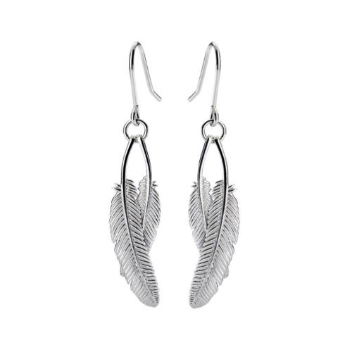 Duo miromiro earrings, sterling silver, Boh Runga, made in NZ.