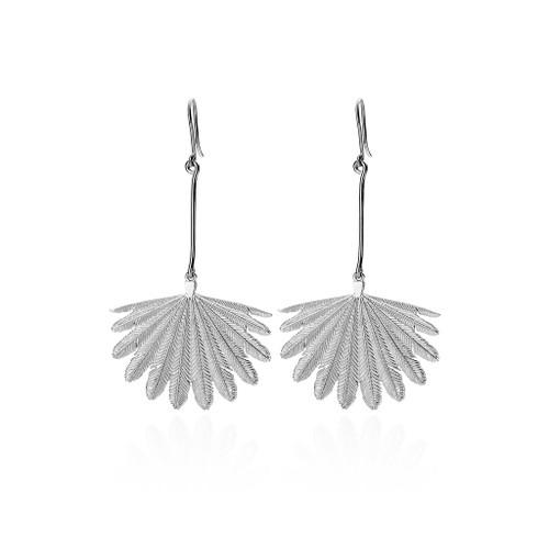 Fan Tail earrings, sterling silver, Boh Runga, made in NZ.