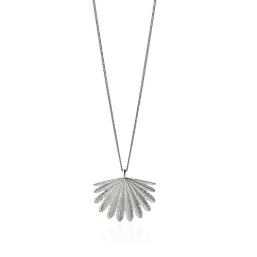 Fan Tail necklace, sterling silver, Boh Runga, made in NZ.