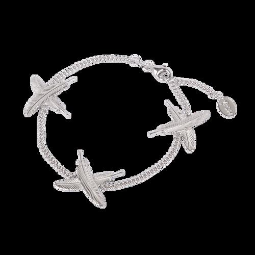 Silver Feather Kisses bracelet