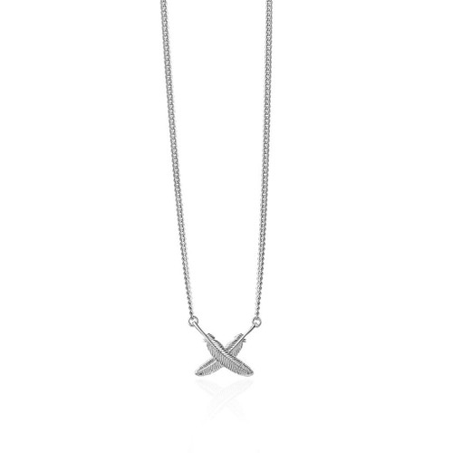 feather kisses pendant, sterling silver, Boh Runga, made in NZ.