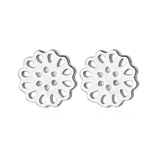 lotus studs, sterling silver, Roh Runga, made in NZ.