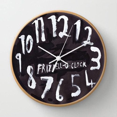 clock, dick frizzell, black face.