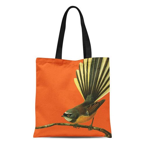 Fabric tote bag, fantail.