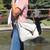 The Kingsland satchel, Moana Rd, cotton canvas, grey.