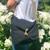 The Kingsland satchel, Moana Rd, cotton canvas, black.