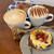 cream ceramic mug, 350ml capacity, aroha stamp,