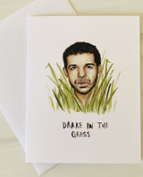 Drake in the Grass, blank greeting card