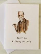 Freud of Love, Blank Greeting Card