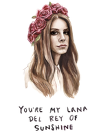 Lana Del Rey of Sunshine, Blank Greeting Card