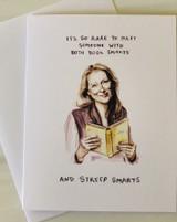 Streep Smarts, Blank Greeting Card