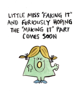 Little Miss Faking It, Blank Greeting Card