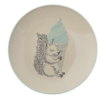 Squirrel & Ice Cream Cone Ceramic Plate