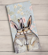 Bunny Friends, Floral: Tea Towel