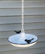 Enamel Saucer Bird Hanging Bird Feeder