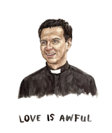 Love is Awful/Hot Priest, Blank Greeting Card