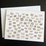 So Many Cats, Blank Greeting Card