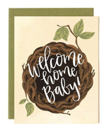 "Nest ""Welcome Home Baby,"" Blank Greeting Card"