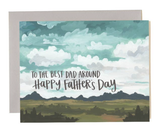 Father's Day Landscape, Blank Greeting Card